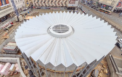 Installation of steel Rotunda completed