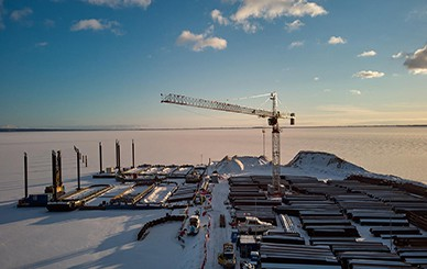 The attack of winter did not cause a delay in works on the Spit